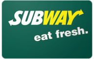 Subway Gift Cards
