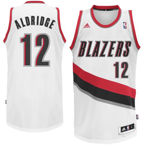 Asian Wearing Portland Blazer Jersey: Adidas LaMarcus Aldridge Portland Trail Blazers White