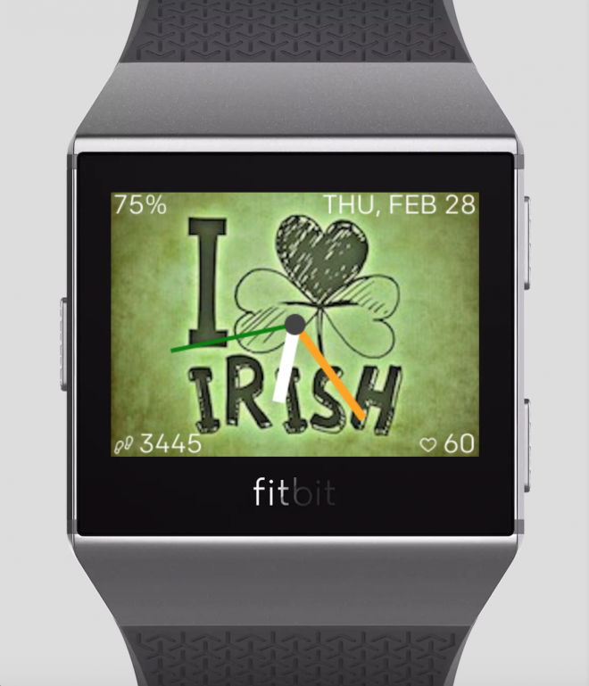 Luck Irish Fitbit Watchface - Ionic