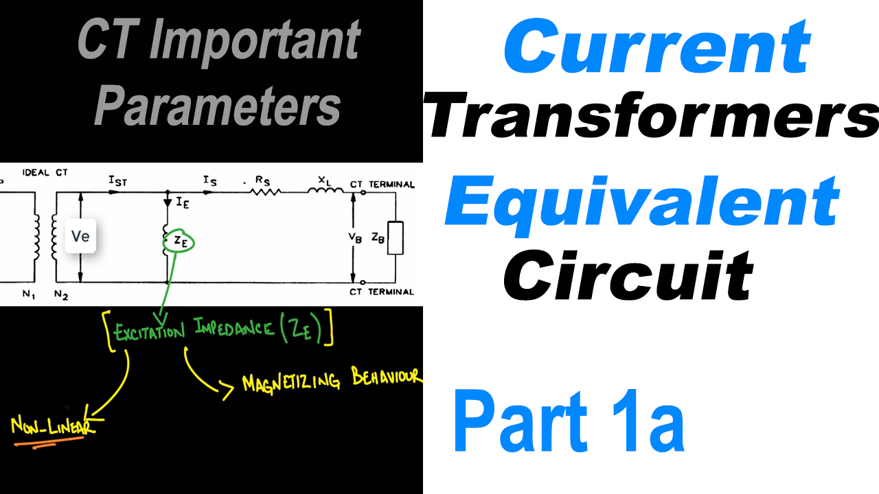 Current Transformer Equivalent Circuit Model Part 1a The Excitation How To Increase Currents Of A Impedance Ze Ct