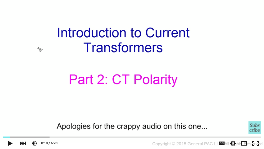 Introduction to Current Transformers Part 2: CT Polarity