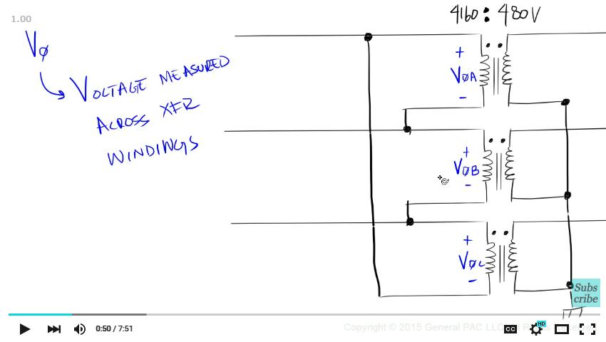 wye transformer voltages