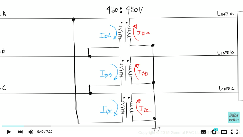 Introduction to the Delta Wye Transformer Part 4 | Transformers on open delta transformer connection diagram, 3 phase wye connection, star delta starter wiring diagram, 3 phase high leg delta transformer bank, 3 phase transformers connection drawings,