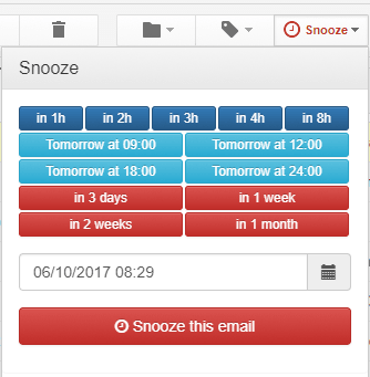 Schedule your snoozed email