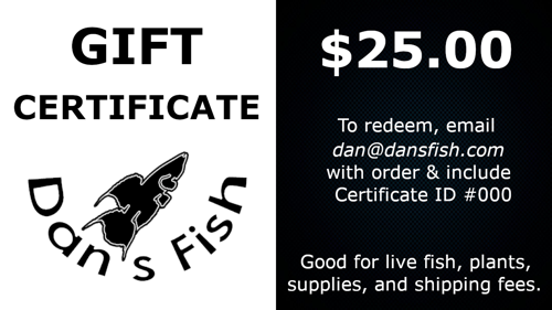 Gift Certificate, $25.00
