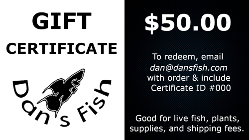 Gift Certificate, $50.00