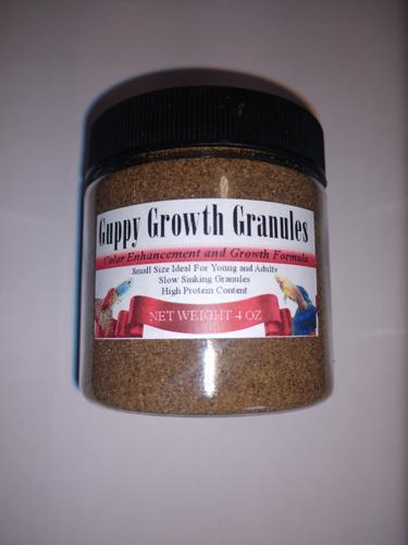 Guppy Growth Granules 4 oz