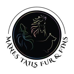 Manes Tails Fur & Fins Logo