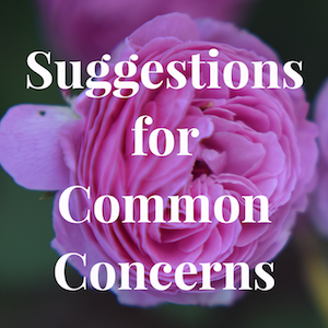 Suggestionsforcommonconcerns