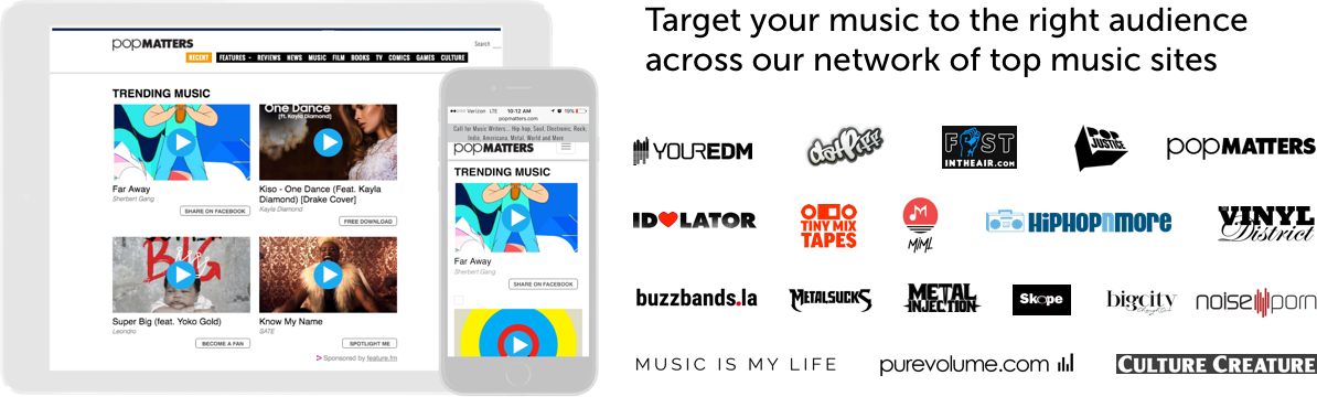 Feature fm Partners with YourEDM, DatPiff, and more to help