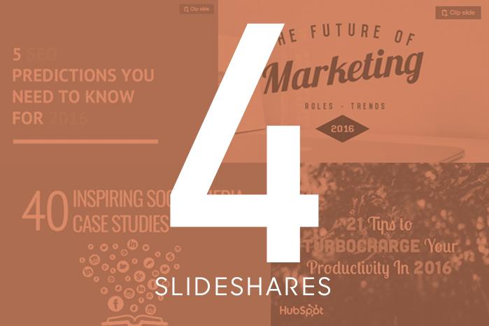 4 Slideshares to Kickstart 2016