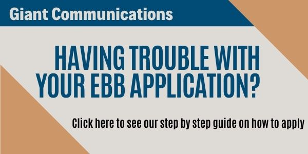 Having trouble filling out the EBB application?