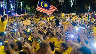 Bersih 4 Kuala Lumpur Malaysia Aug 29. Protesters Merdeka Moment. Image size:960x576px