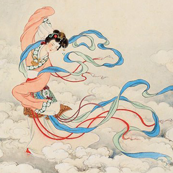 Chinese Mid-Autumn Festival. Classical Arts: Painting. Image 7A Image size:400x400px