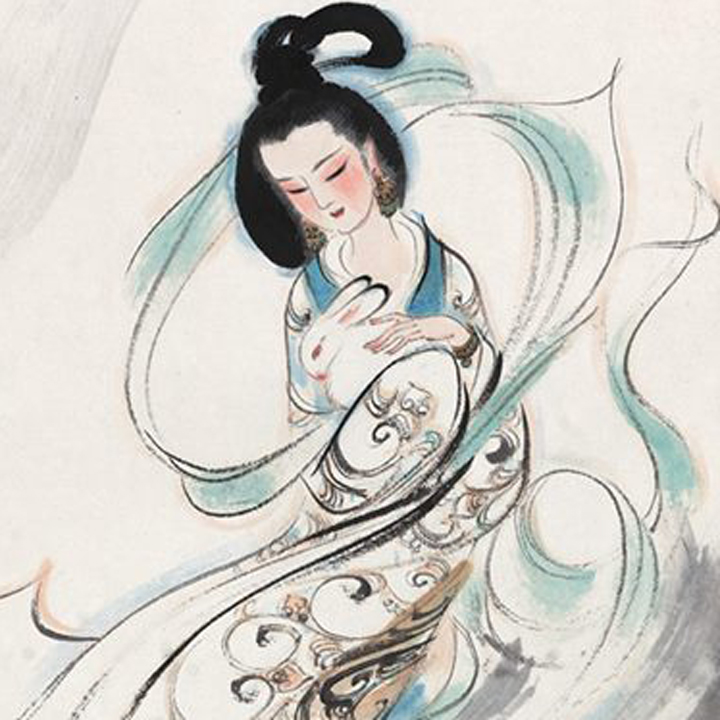 Chinese Mid-Autumn Festival. Classical Arts: Painting. Image 8A Image size:400x400px