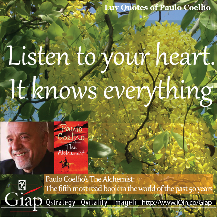 Paulo Coelho Quotes from QuotesLuv: You Will Never Be Able To Escape From Your Heart. So It Is Better To Listen To What It Has To Say. Image Size:720x720px