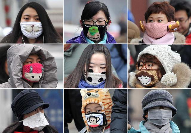 Chinese Girls in Fancy Haze Masks. . Image 2A. Image size:640x447px