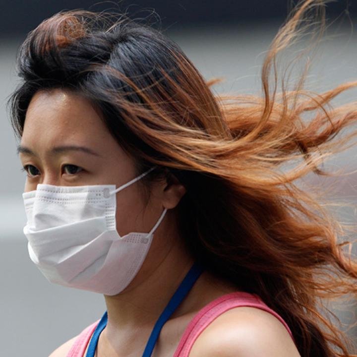 Girl in Mask. Indonesia Needs 3 Years To Tackle Haze: President Joko Widodo. Image 1A. Image size:720x720px