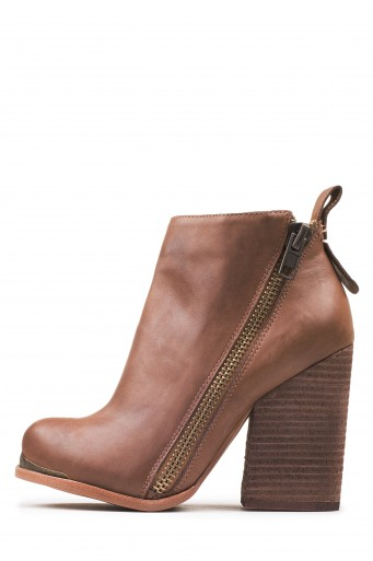 e8e7105ba38bc6 Sign up for an email restock notification! Zipper embellished chunky heeled  booties. Fits true to size Measurements taken from size 6 4