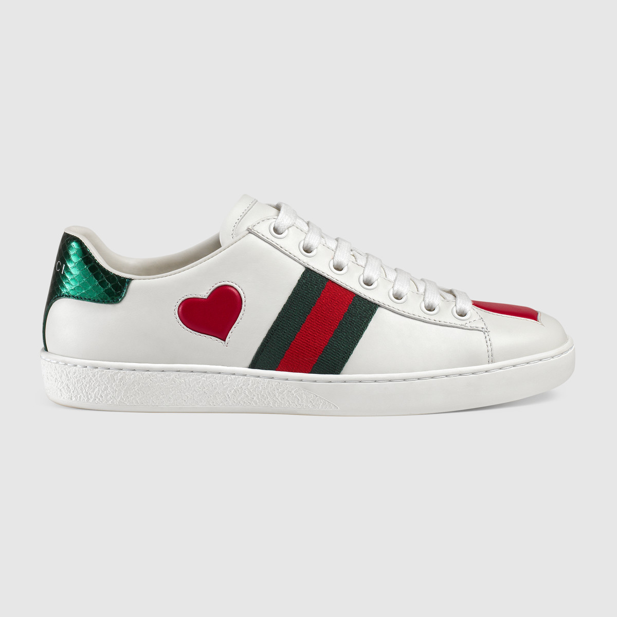 982831c74348 ... heart inlay Red ayers snake detail on the back of one shoe and green  ayers snake detail on the back of the other shoe Rubber sole Made in Italy  sz 37