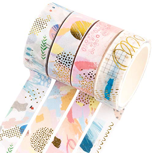 lenghjt:8.7yd//roll Japanese Washi Masking Tape,Dreamlike Series,Sticky Paper Tape for DIY,Bullet Diary Decorative,Gift Wrapping,Scrapbook,Office,Party Supplies,Collection Molshine Set of 7