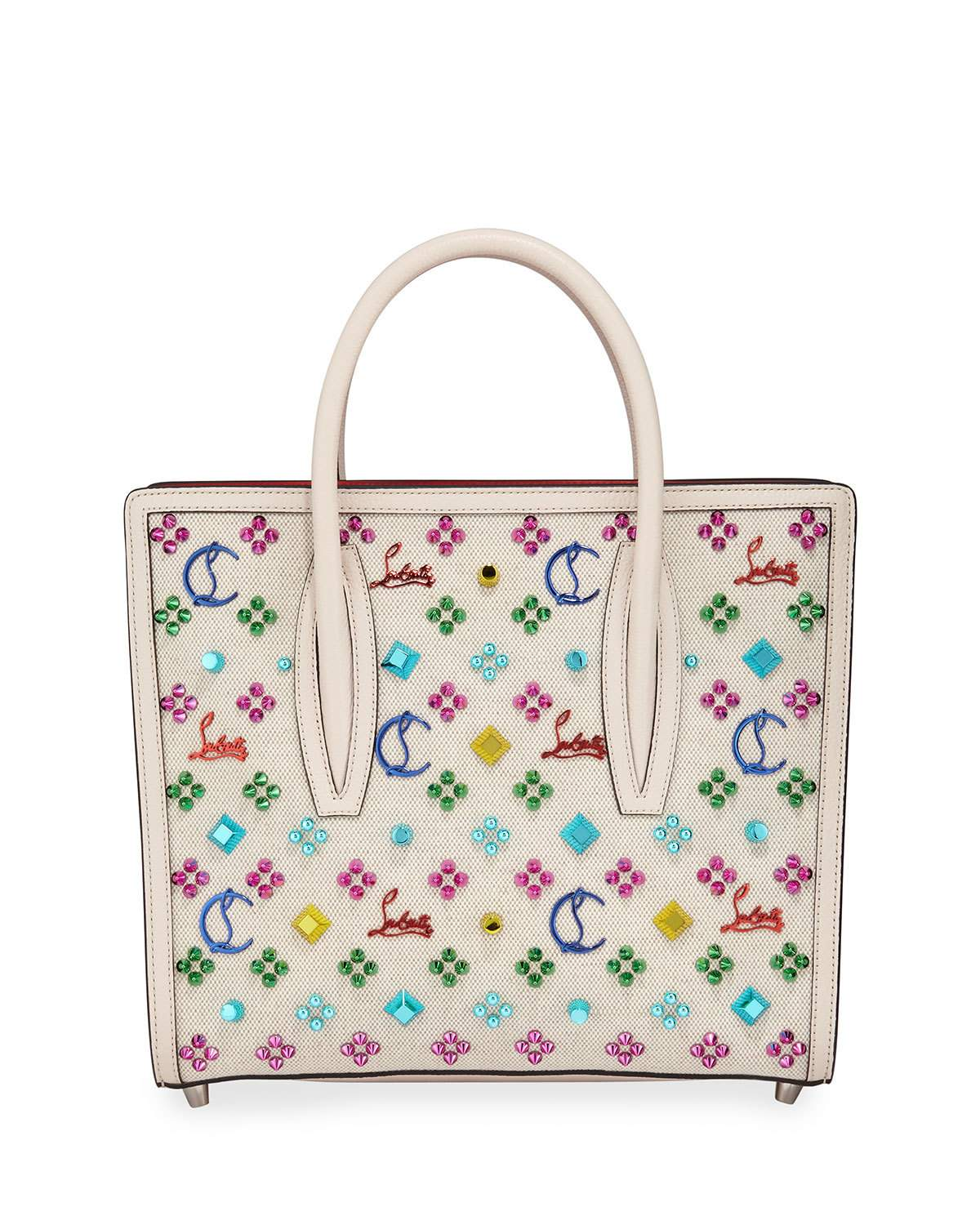 f2bb59d160fe Christian LouboutinPaloma Medium Canvas Tote Bag $2,690.00 Free Shipping +  Free Returns WHITE PATTERN Expected to ship no later than 09/13/2019  Pre-Order