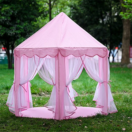 27ae978d667e Qiilu Kids Play Tents Princess Castle Play Tent Girls Playhouse Toy Game  House with LED Strings Birthday Gift for Girls Fit for Outdoor Indoors Kids  Game ...