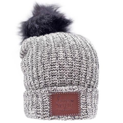 60836f25a30 It features a brown leather patch that is debossed with the Love Your Melon  logo and a detachable