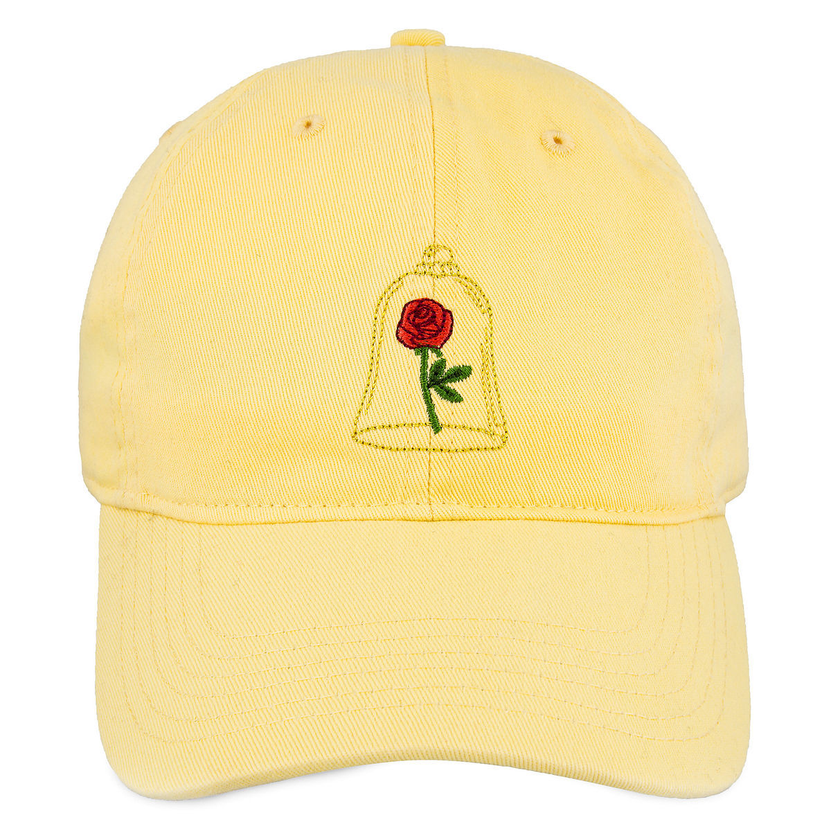 db215e1b ... rose embroidery on front ''Tale as old as time'' embroidery on back  Curved bill Embroidered eyelets Adjustable back strap The bare necessities.