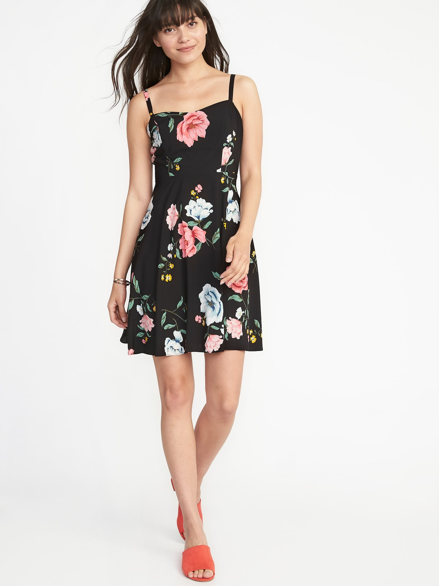 b8496315a88a Floral Fit & Flare Cami Dress for Women ...