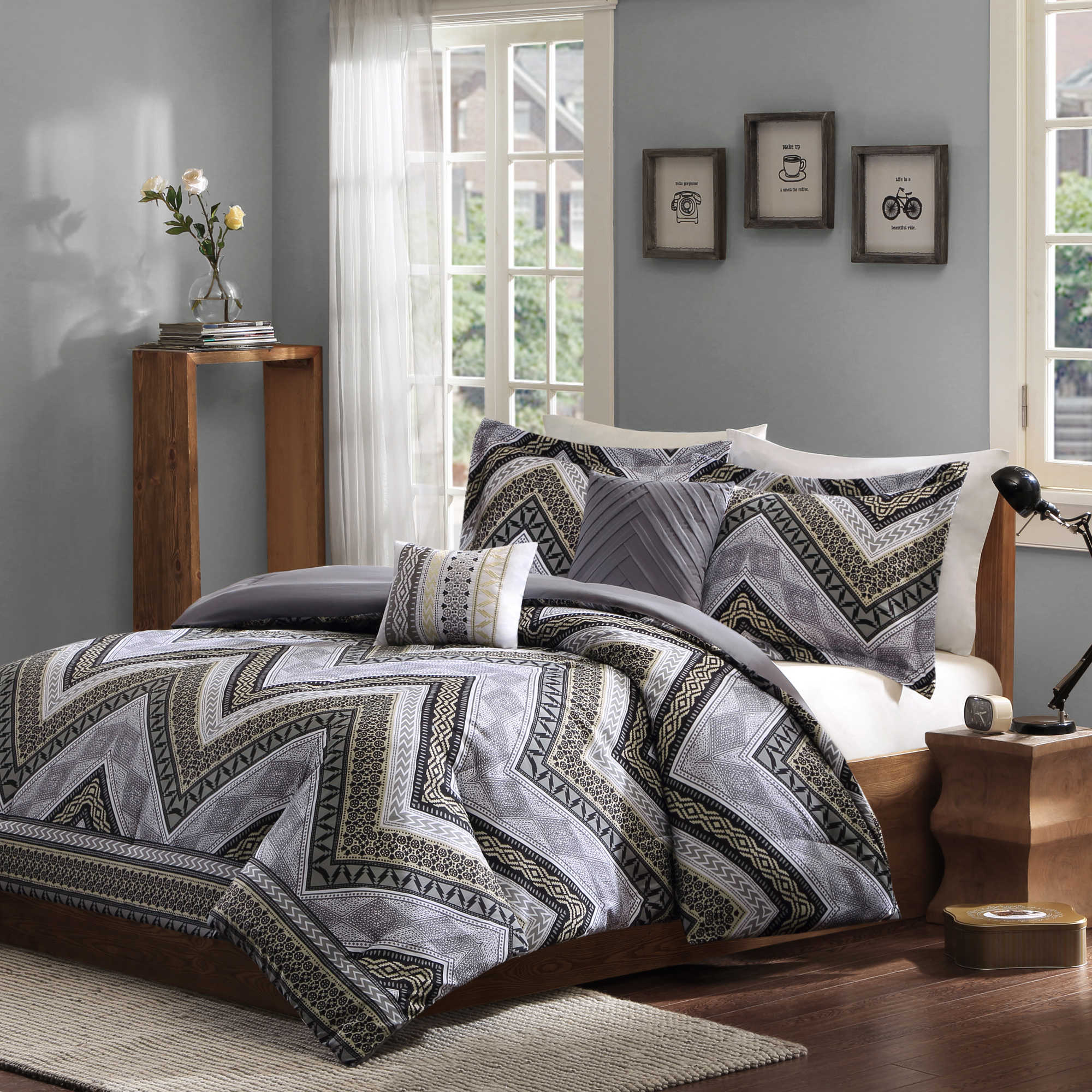 laredo xl reviews wayfair home grey pdx piece twin comforter set bed chic bath