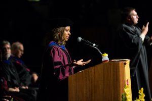 Student recieving Philosophy doctorate