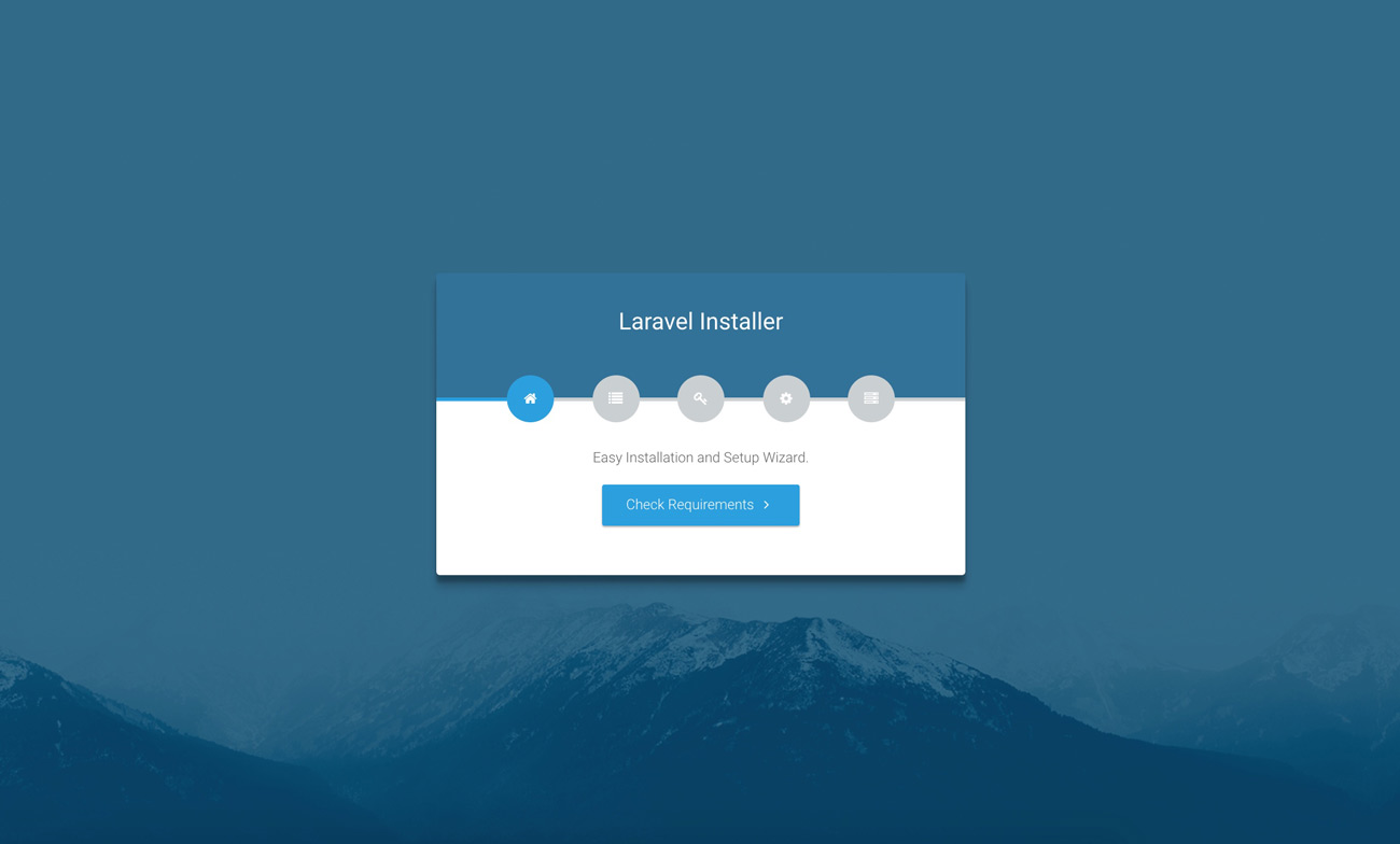Laravel web installer | Step 1