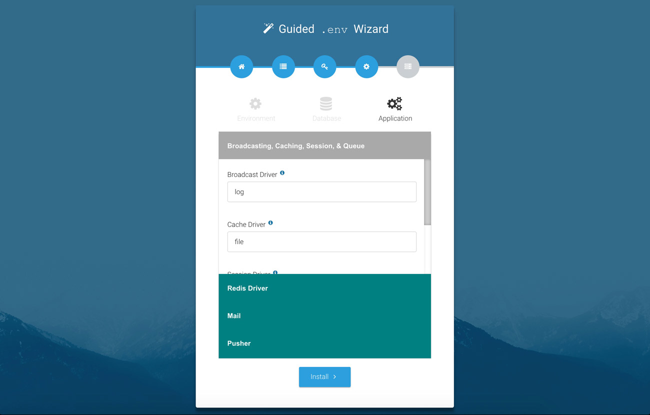 Laravel web installer | Step 4 Wizard 3