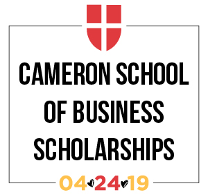 Cameron School of Business Scholarships