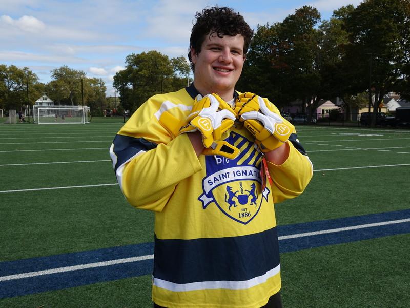 Hockey sweater, Lacrosse gloves & Baseball shirt