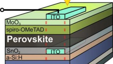 Photo of Perovskite/silicon tandem solar cell achieves record efficiency