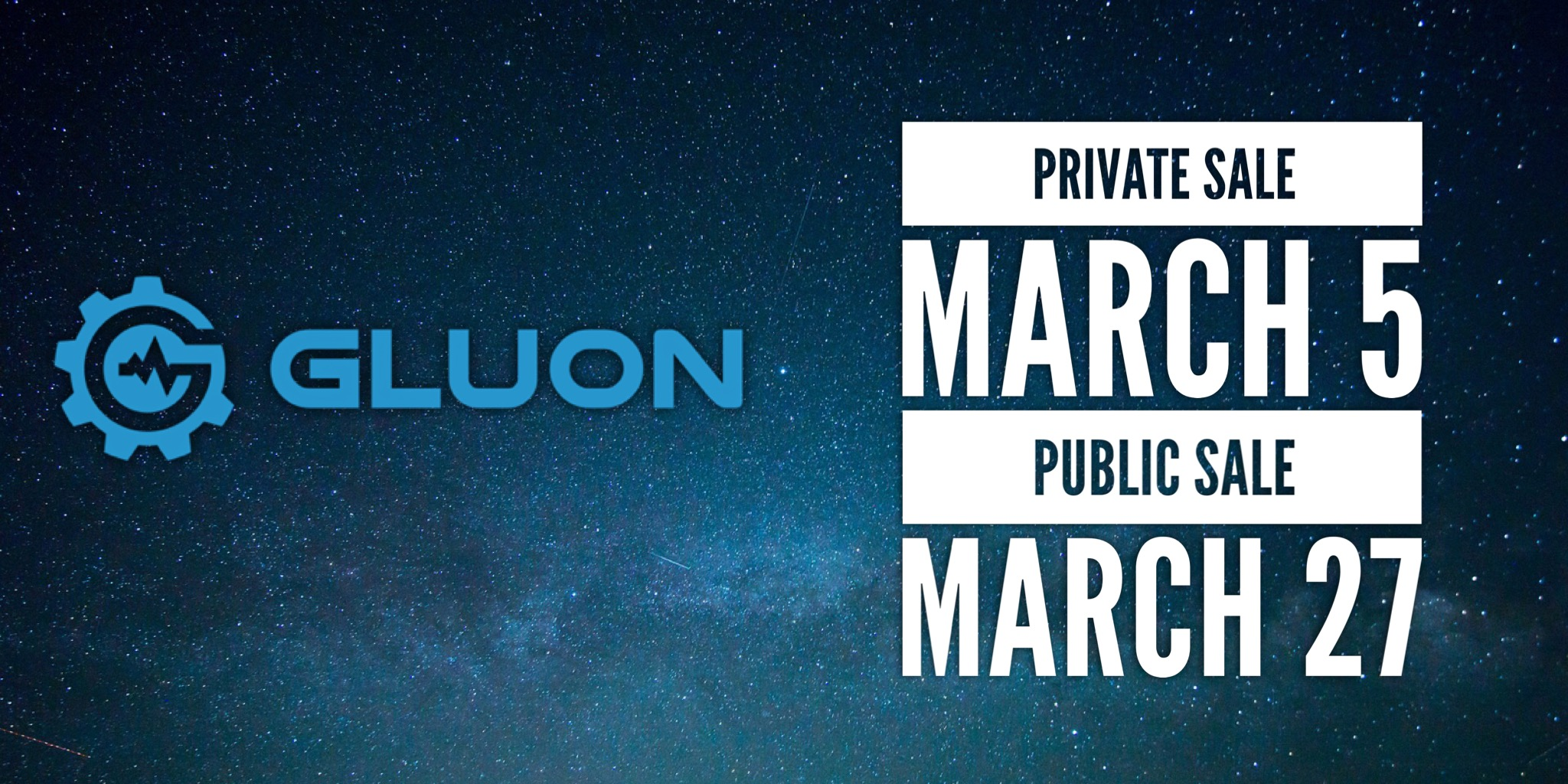 Gluon launching it's ICO on March 27. Don't miss out.