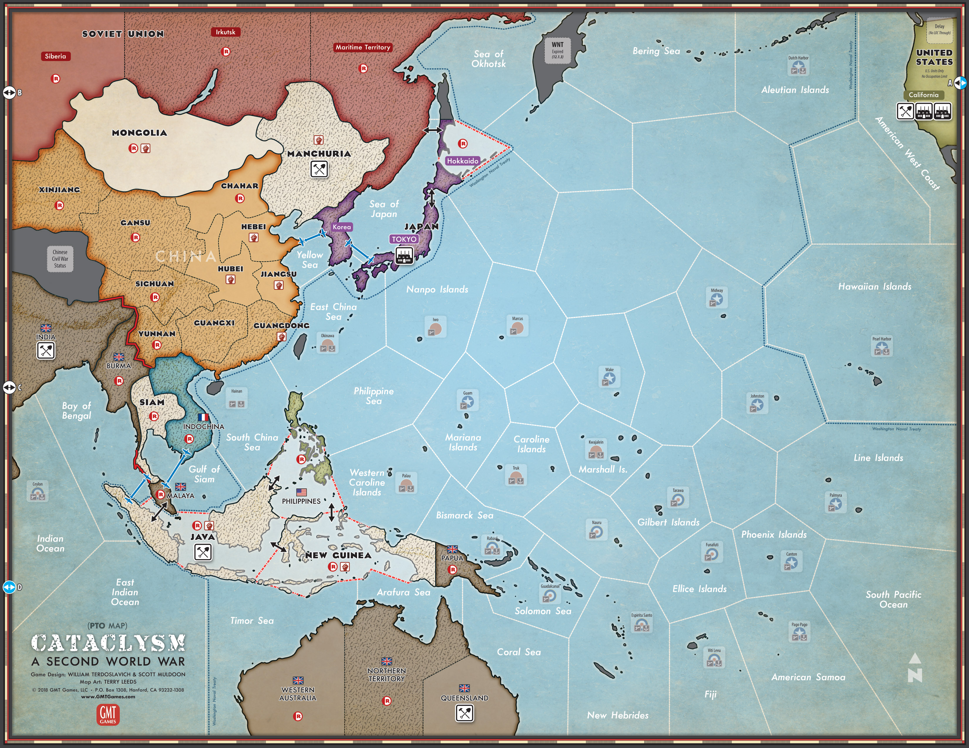 Map Of Asia Review Game.Gmt Games Cataclysm