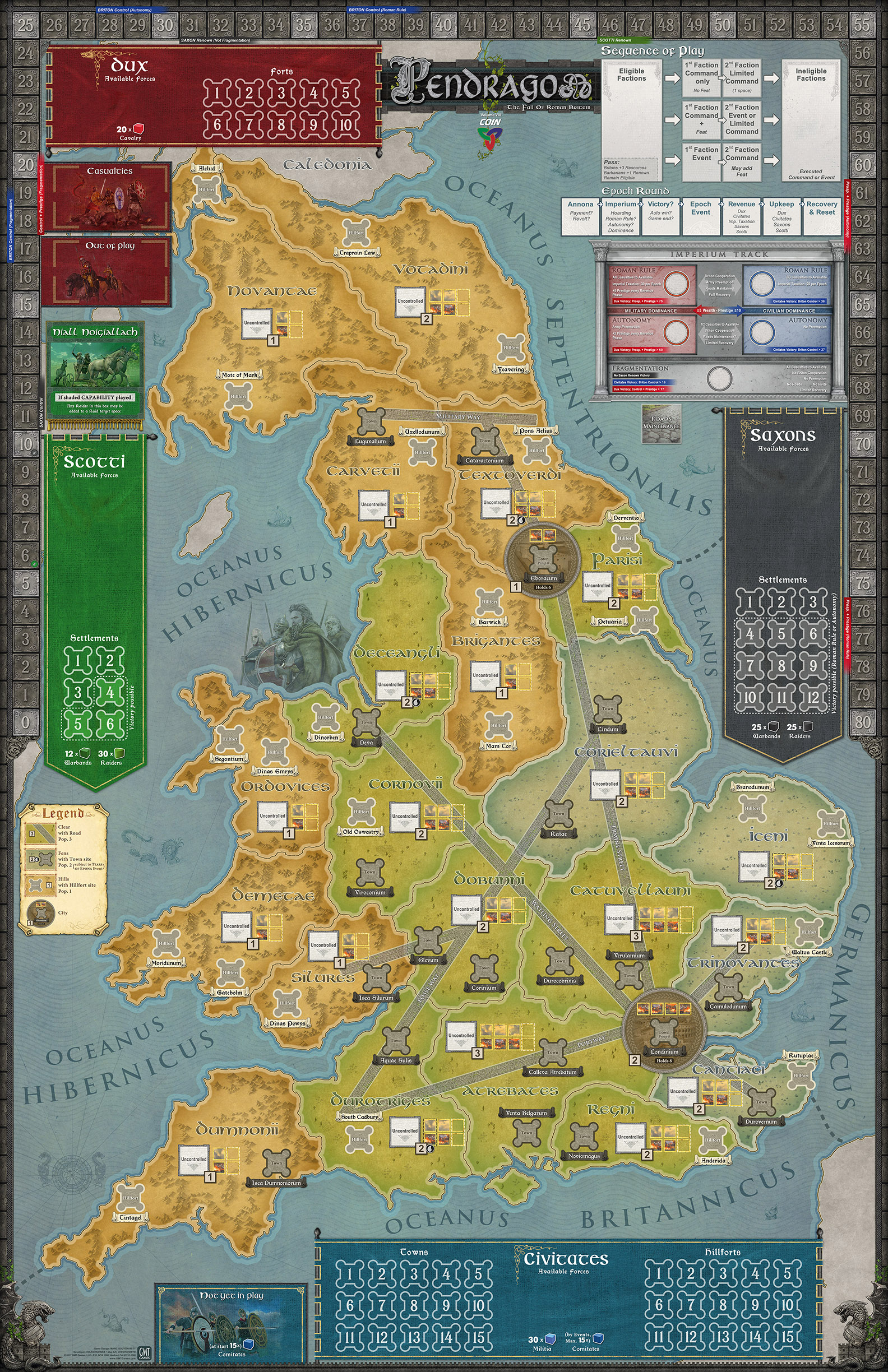 GMT Games - Pendragon: The Fall of Roman Britain