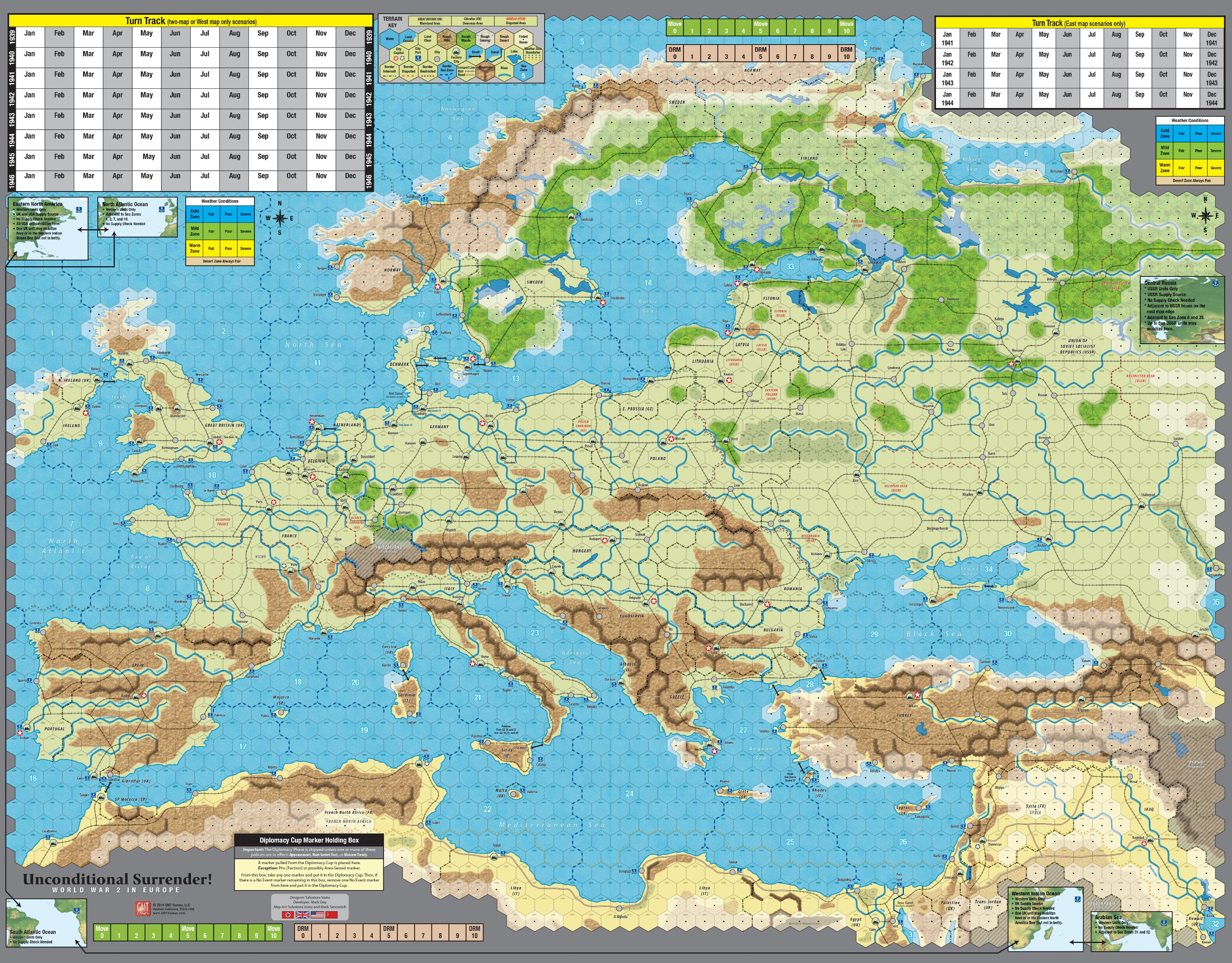GMT Games - Unconditional Surrender! 2nd Printing