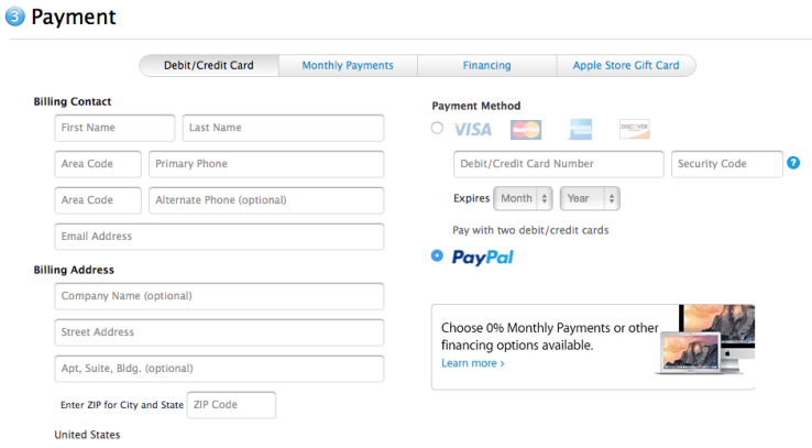 paypal apple online