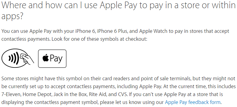 apple pay FAQ