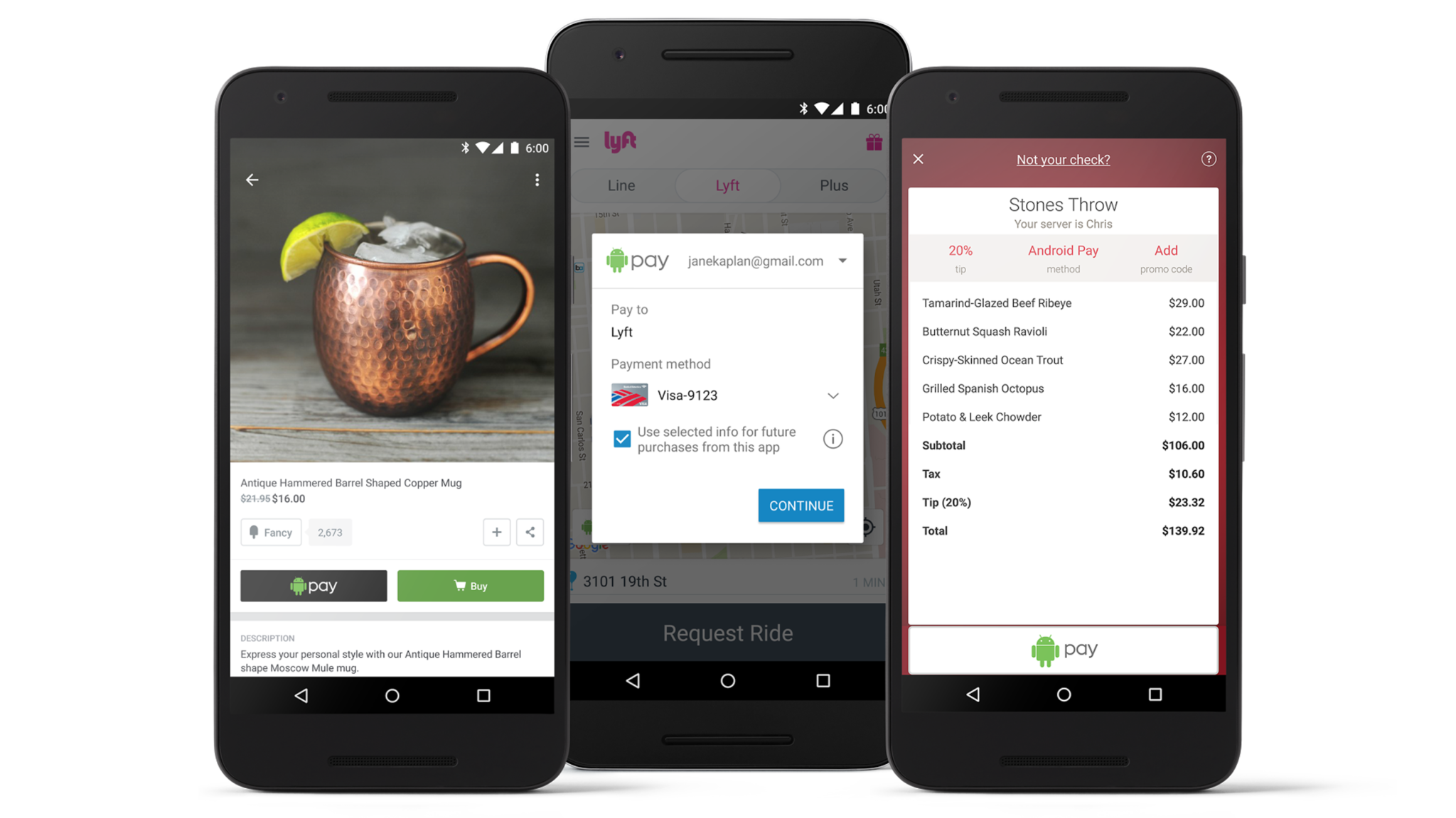 android pay in-app purchase