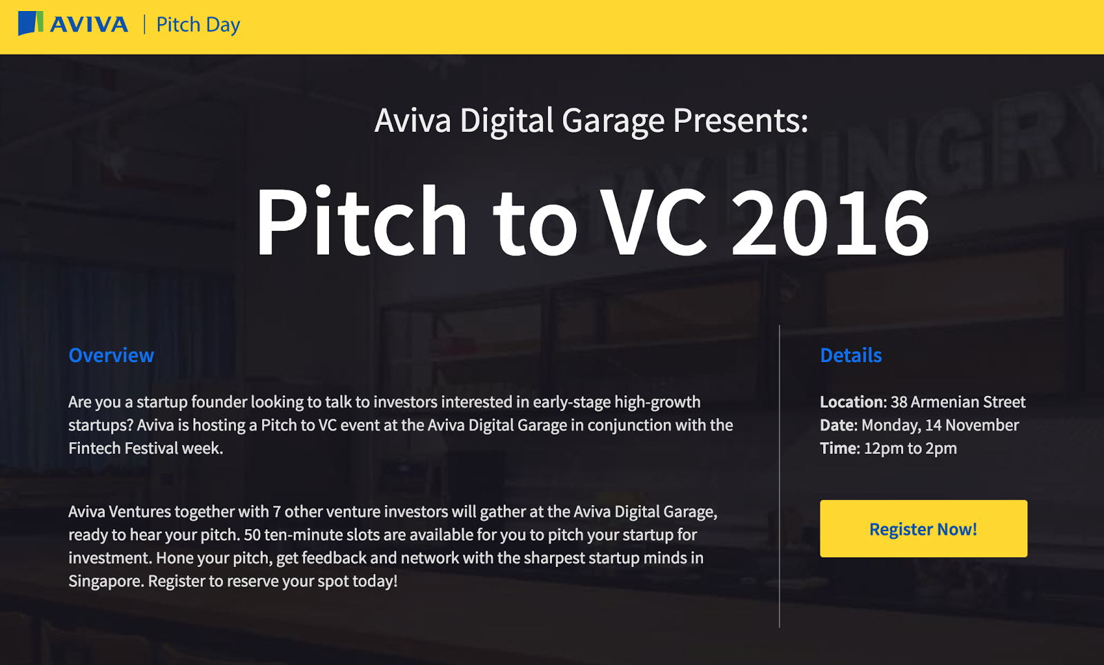 Aviva Pitch Day in Partnership With MEDICI - Apply Now