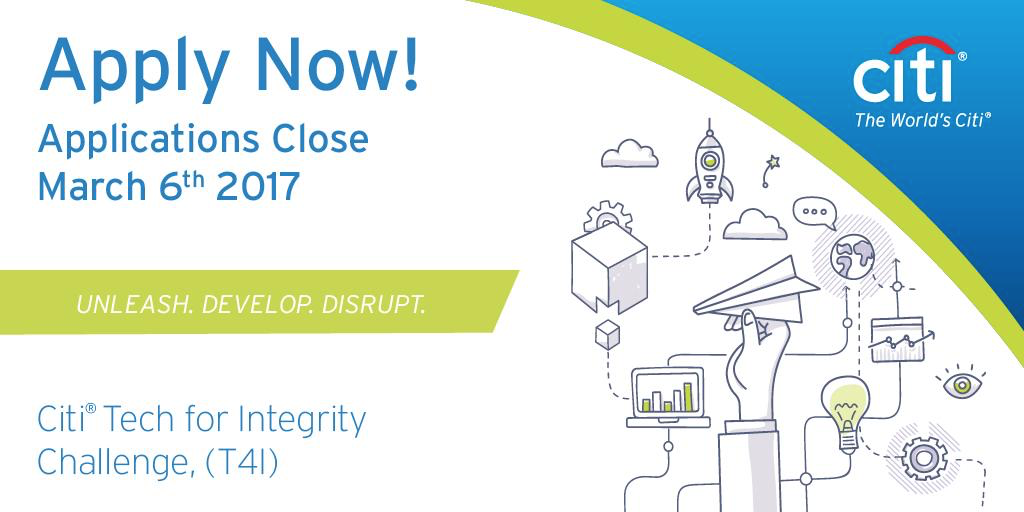 Citi Tech for Integrity (T4I) Challenge Offers a Unique Opportunity to Work With Its Exceptional Allies – LTP, IBM, Microsoft, Mastercard, Facebook, Clifford Chance and PwC