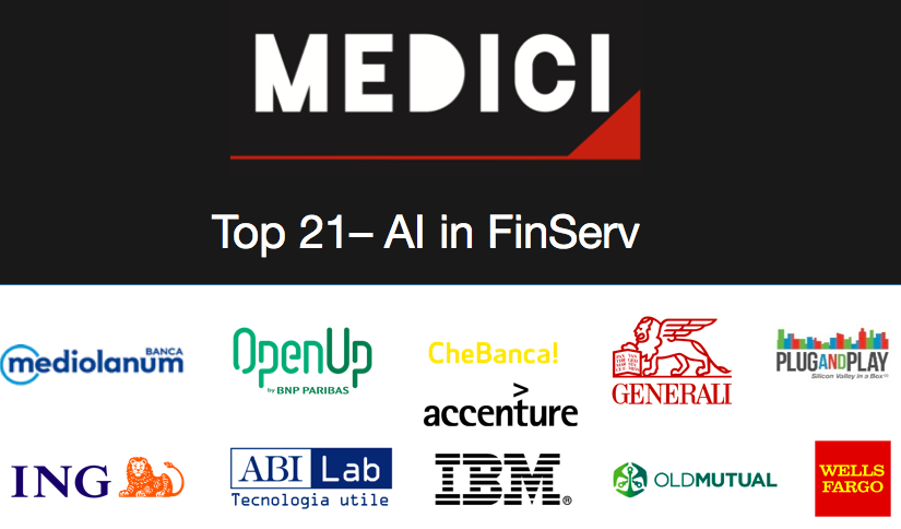 MEDICI Top 21 – AI: Unveiling the Leading Companies Applying AI to Build Next-Gen Financial Services Solutions