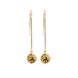 Earrings   pompom   gold   smalljpeg srgb 1600px for web