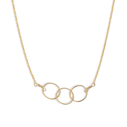 Three Circle Necklace - Gold