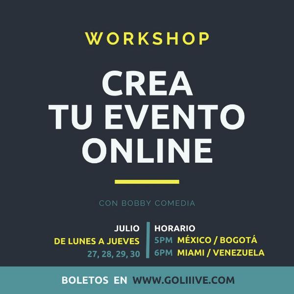 WORKSHOP Crea tu evento ONLINE